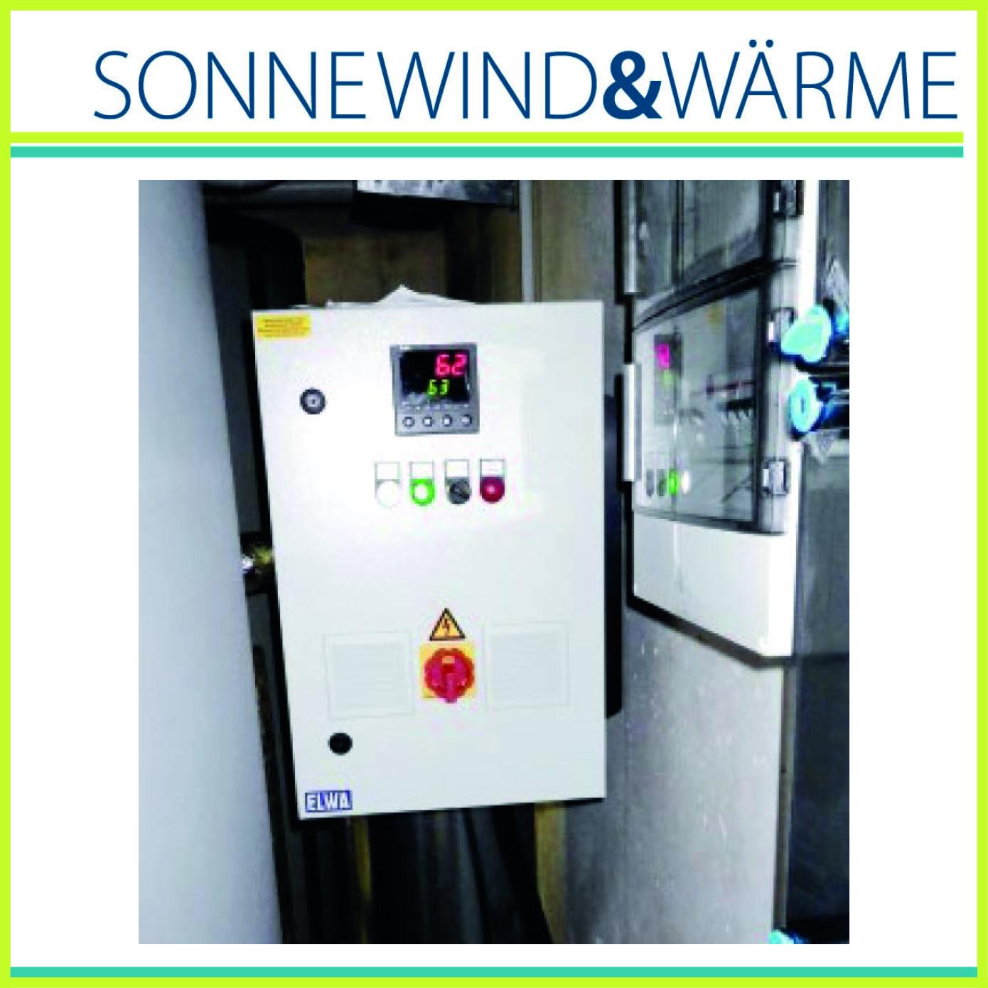 ELWA Power-to-Heat und Logo Sonne, Wind & Wärme