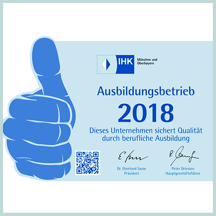 IHK Siegel - Ausbildungsbetrieb 2018