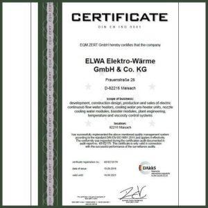 ELWA certificate DIN EN ISO 9001_2015