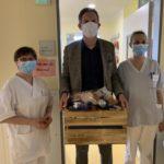 Übergabe Geschenkkörbe an das Klinikpersonal im Klinikum Fürstenfeldbruck